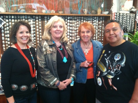Wearing our Southwest finest with one of our favorite artisans.
