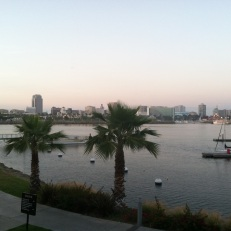 View of Downtown Long Beach from across the Harbor
