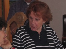Grandma in her biggest, loveliest earrings.